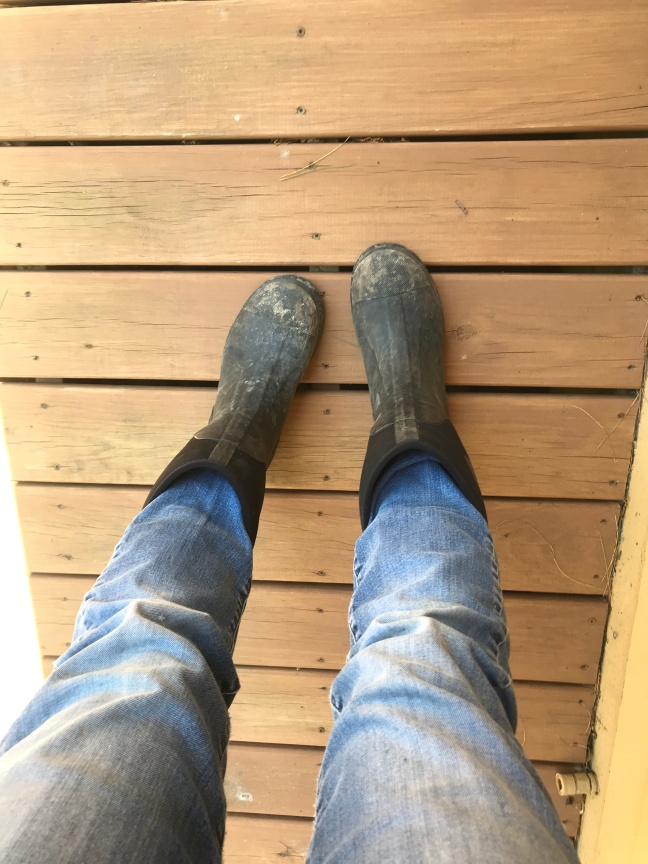 Me wearing boots